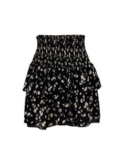 Carin Night Flower Skirt - Black