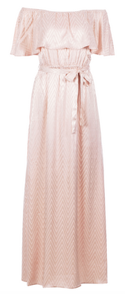 Lassie Dress - Pink Zig Zag Satin