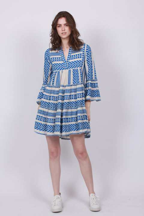 Ella Short Dress - Blue
