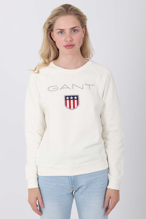 Gant Shield Logo Genser - Off White (1476696703011)