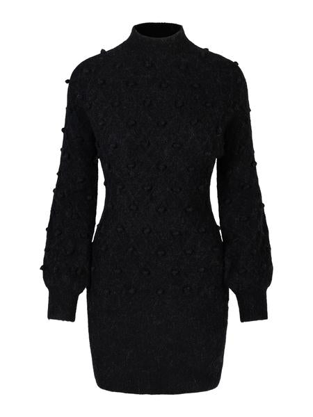 Turid Alpaca Dress - Black (4469403189357)