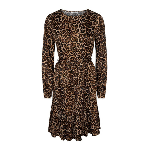 Opal Dress Aop - Coffe Leo (4183532830755)