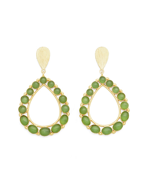 Drops From My Bath Tub Earrings - Green Onyx (1786264748067)
