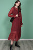 Cherry Maxi dress - Cherry aop - Just Female - Kjoler - VILLOID.no