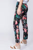 Leah pants - Black Blossom - By Malina - Bukser & Shorts - VILLOID.no