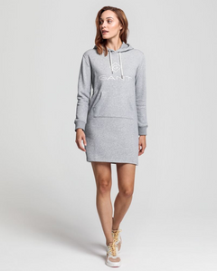 Gant Lock Up Hoodie Dress - Grey Melange