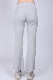 Knitted Pant - Grey Melange (1640547319843)