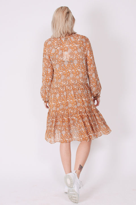 Mindy Dress - Sudan Brown