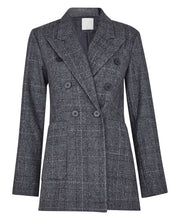 Eve Check Blazer - Grey