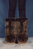 Moon Boot Classic Premium Soft Fur Suede - Khaki - Moon Boot - Sko - VILLOID.no