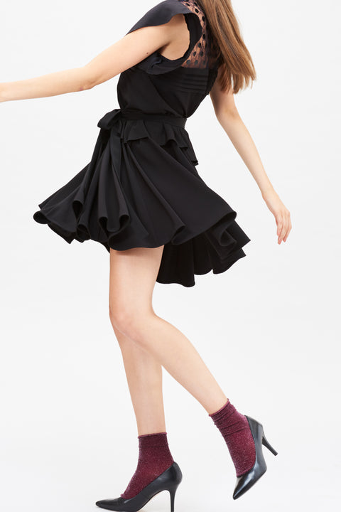Cordelia Dress - Black Crepe