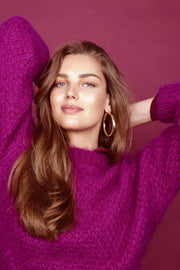 April Mohair Sweater - Bright Purple