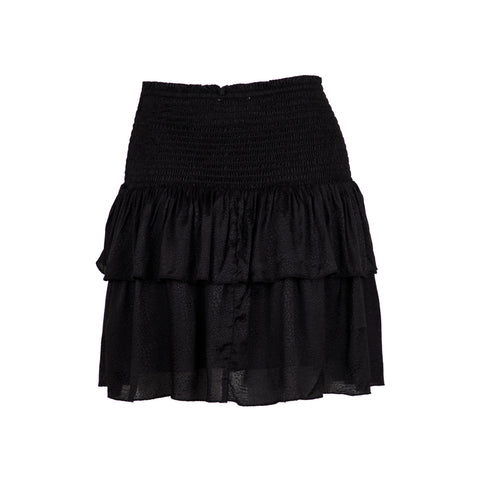 Carin Jacquard Skirt - Black (4314318504045)