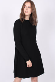 Cecilie Merino Dress - Black (1875915341859)