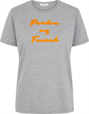 Pardon Tee - Light Grey Melange (1508423860259)