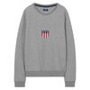Gant Shield Logo C-neck Sweat - Grey Melange - GANT - Gensere - VILLOID.no