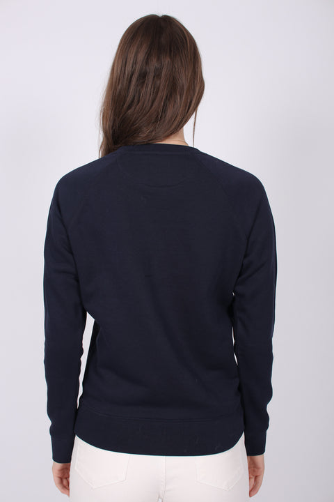 Gant Shield Logo C-neck Sweat - Evening Blue
