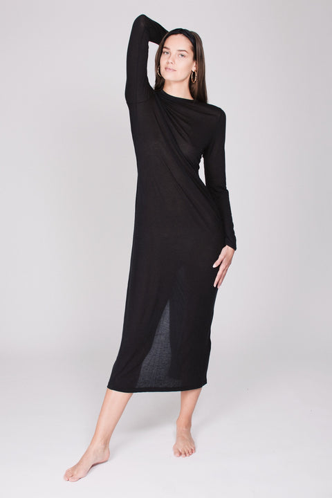 The Sweater Dress - Almost Black