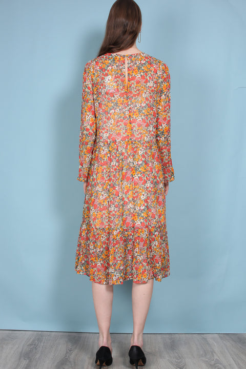 Bloom Dress - Blazing Orange