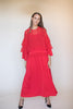 Agnes long maxidress - Red - Line of Oslo - Kjoler - VILLOID.no