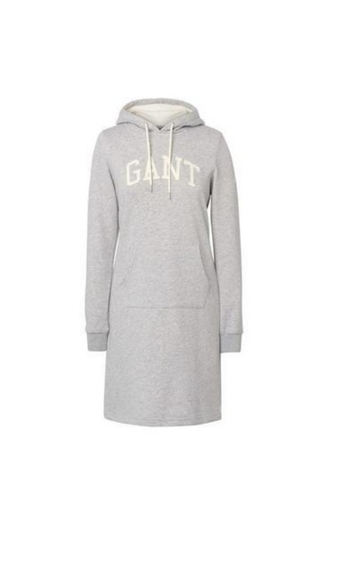 Gant ARCH hoodie dress - Grey melange