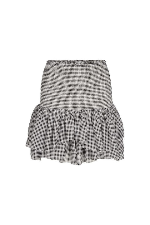 Kiely Short Skirt - Black/White Check