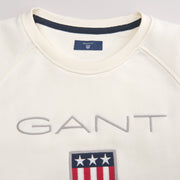 Gant Shield Logo Genser - Off White