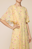 Delicate T-shirt Gown - Yellow Poppy - ByTimo - Kjoler - VILLOID.no