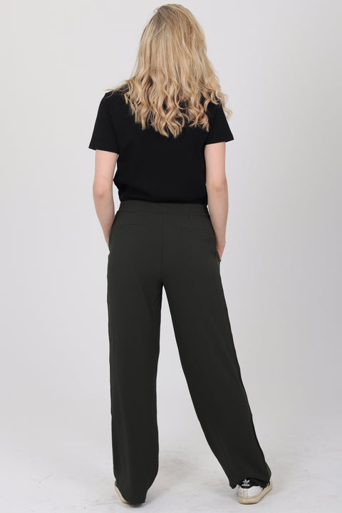 Moja Solid Trouser - Army