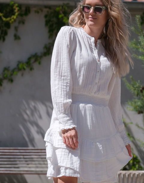 Bimba Gauze Dress - Off White