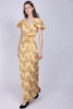 Butterfly Long Dress - Aspen Gold - MAUD - Kjoler - VILLOID.no