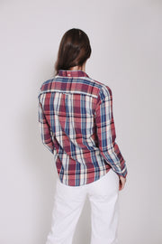 Winter Flannel Madras Shirt - Smoked Paprika