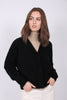 Brook Knit Boxy Cardigan - Black - Second Female - Gensere - VILLOID.no
