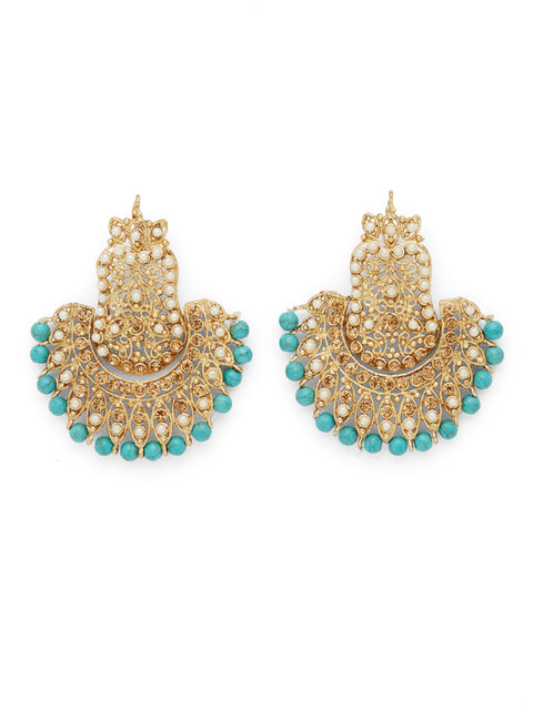 The Peacock Earrings - Blue (1786312458275)