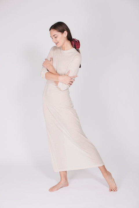 The Sweater Dress - Natural White