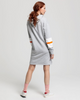 Graphic Block Stripe Dress - Light Grey Melange