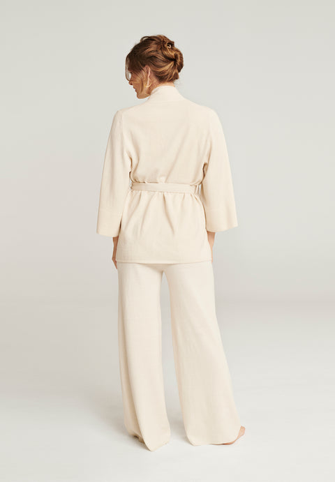 Wool Lounge Sweater - Cream (1889849835555)