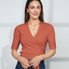 Tencel Wrap Top - Earth - Pierre Robert x Jenny Skavlan - Gensere - VILLOID.no