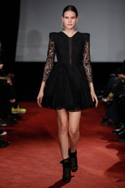 Atelier Short Lace dress - Black