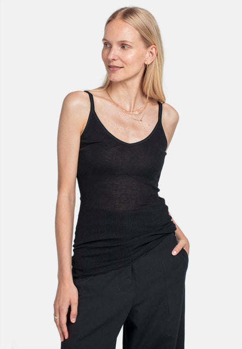 Wool Camisole - Black (1889845215267)