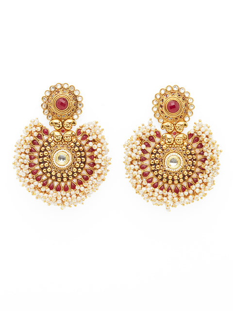 The Large Tanushri Earrings - Red (1786305445923)