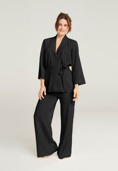 Wool Lounge Pants - Black (1889848786979)