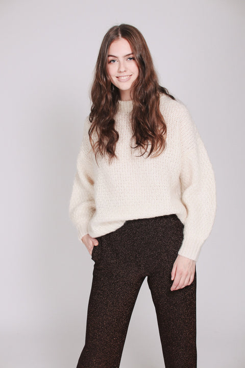 April Mohair Sweater - Ivory (1476725997603)
