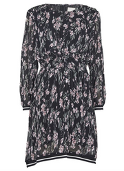 Florette Flower Dress - Black