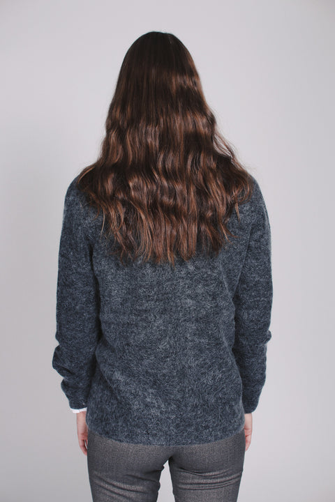 Brook Knit Short Cardigan - Dark Grey Melange (1476723015715)