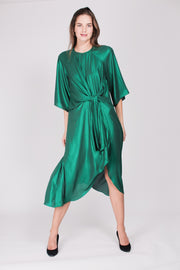 Everly Dress - Green Sparkle Crepè