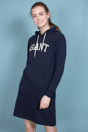 Gant ARCH Hoodie Dress - Evening Blue