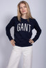 Logo C-neck Sweat - Evening Blue - GANT - Gensere - VILLOID.no