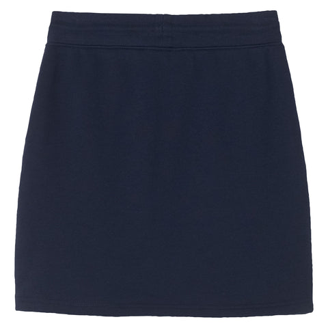 Tonal Shield Sweat Skirt - Evening Blue (1476710039587)