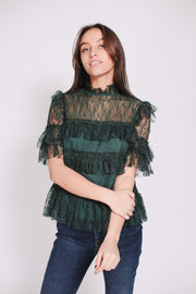 Rachel Blouse - Pine Green